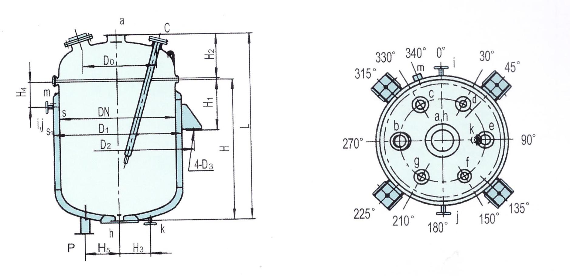 蒸馏罐结构图